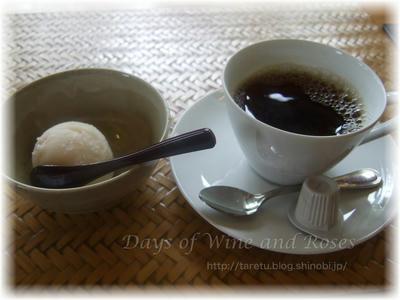 コーヒーとプチデザート