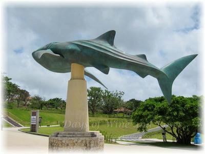 美ら海水族館サメ像