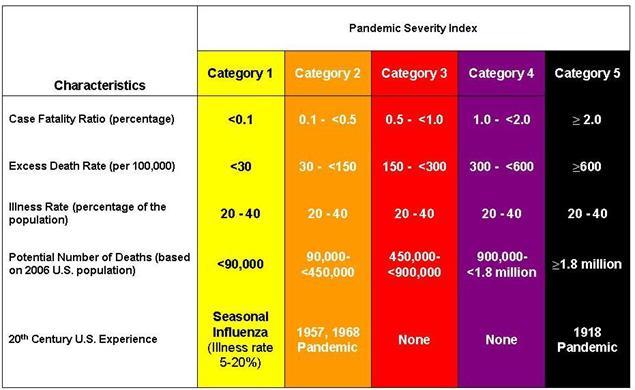 パンデミック重症度分類