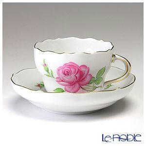 マイセン ピンクのバラ コーヒーカップ&ソーサー