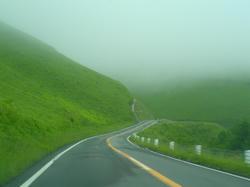 濃霧のビーナスライン