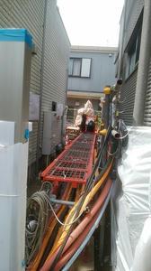 東野3丁目宅地部分工事現場環境