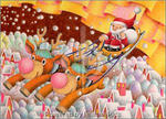 Christmas picture - Busy Father Christmas