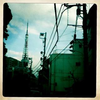 東京タワー、麻布より