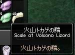 火山トカゲの鱗