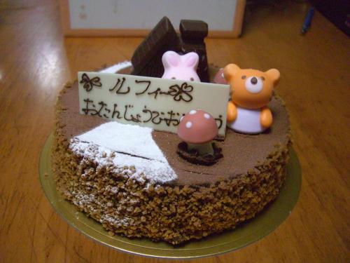 人間様もケーキ♪