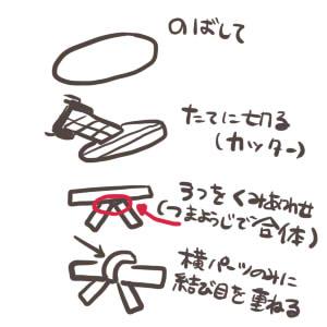 樹脂粘土-リボンの作り方