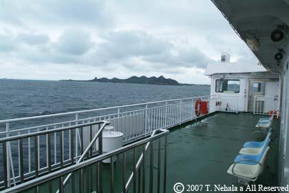伊是名島への船の上