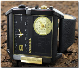 ディーゼル DIESEL 腕時計 トリプルタイム アナデジ DZ7196