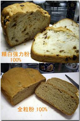ぶどうパン 全粒粉パン 早焼き