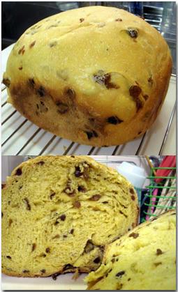 野菜ジュースでパン ぶどうパン ホームベーカリー