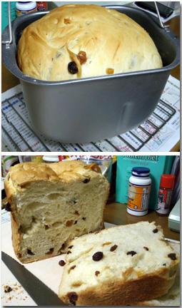 アップルパン ぶどうパン 2斤 ホームベーカリー