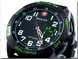 ウェンガー WENGER アナデジ LEDノマド 腕時計 70433