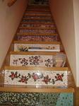 モザイクタイルを施した階段