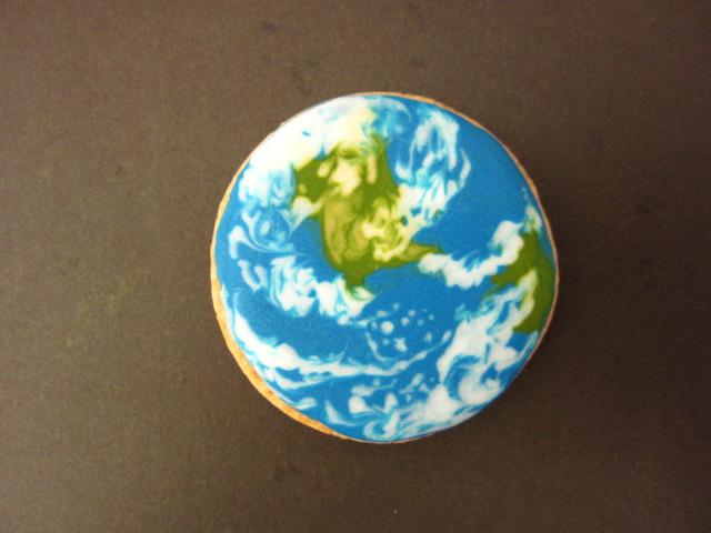 アイシングクッキー:地球