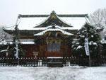 雪の上野東照宮本殿