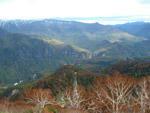 黒岳からの層雲峡遠望