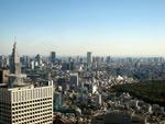 東京都庁・展望台からの眺め