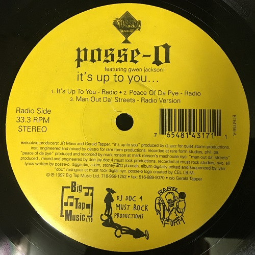 「Posse-O ‎– It's Up To You... VINYL」の画像検索結果
