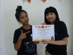 タイの先生と記念撮影
