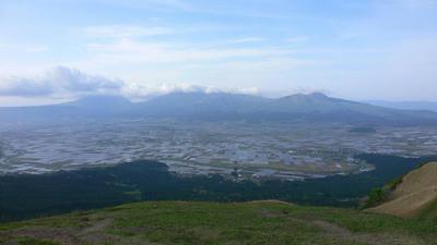 大観峰より眺める五岳