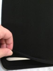 MacBook Airが完全に入った状態