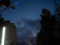 平和通りからの夕暮れ激写