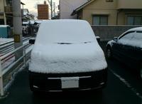雪が積もったモビリオ