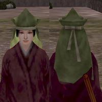 角帽子(緑)