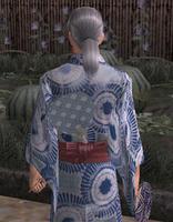 団扇飾り・青(男)
