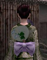 団扇飾り・緑(女)