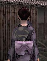 涼団扇飾り・黒(女)