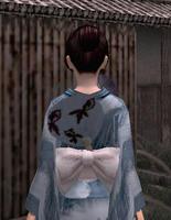 涼団扇飾り・青(女)