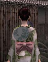 涼団扇飾り・緑(女)
