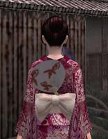 涼団扇飾り・赤(女)
