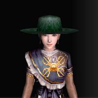 絹の南蛮帽子(緑)