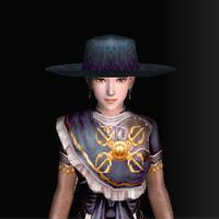 絹の南蛮帽子(青)