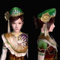 三角木綿帽(女:緑)