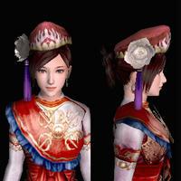 三角木綿帽(女:赤)