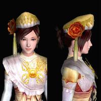 三角木綿帽(女:金)