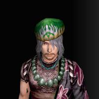 三角木綿帽(男:緑)