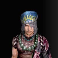 三角木綿帽(男:青)