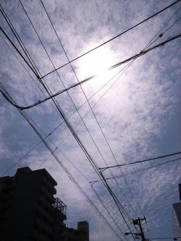 都会の空に