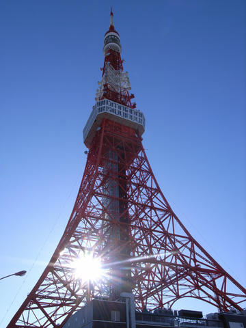 初春の東京タワー