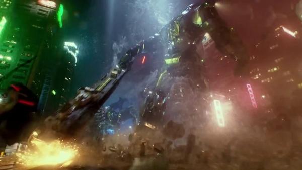パシフィック・リム(Pacific Rim)ジプシー・デンジャーはタンカーを棍棒代わりに戦います