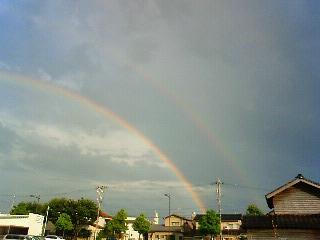 虹が2本同時にでました