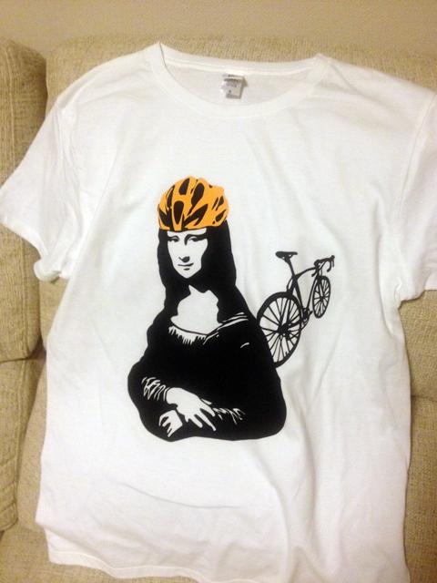 モナリザ Tシャツ 自転車