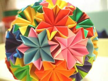 折り紙でつくりました