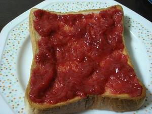 自家製,手作り苺ジャム,熟した苺