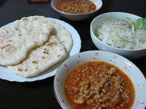 手作り,ナン,キーマカレー,自宅で作れる,フライパンで作れるナン,販売,購入,インド風キーマカレー